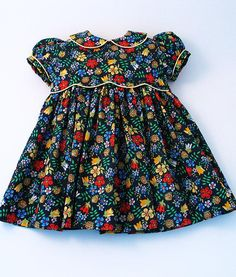 """Liberty Tana Lawn Dress in navy blue """"Edenham"""" print for A Little Girl outfits or dresses Liberty Tana Lawn Dress in navy blue """"Edenham"""" print for A Little Girl Little Dresses, Little Girl Dresses, Little Girls, Girls Dresses, Frock Design, Toddler Dress, Baby Dress, The Dress, Little Girl Fashion"""