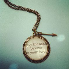 katniss everdeen hunger games quote necklace with arrow charm on Etsy, $25.00