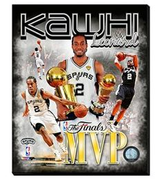 Kawhi Leonard Canvas Framed Over With 2 Inches Stretcher Bars-Ready To Hang- Awesome & Beautiful