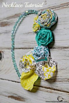 Add a fun Spring accessory to your outfit. Check out How to Make Fabric Flower Necklace. These are great gift idea for kids and adults.