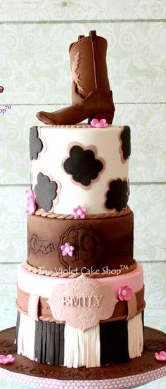 Girls Western Themed Cake
