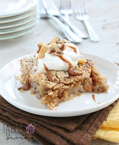Banana Bread Dump Cake • Table for Seven
