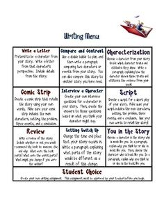 Writing and Vocabulary Novel or Book Response Choice Board. Two different choice boards to provide differentiated options. Writing Strategies, Writing Lessons, Writing Resources, Teaching Writing, Writing Activities, Writing Prompts, Writing Skills, Writing Ideas, Teaching Ideas
