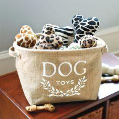 Hemp Dog Toy Storage