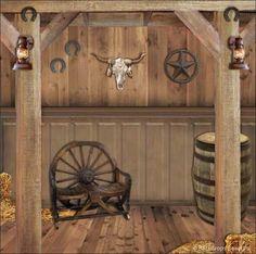Wild West/Farm theme backdrop