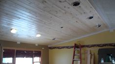 Tongue and Groove Pine Ceiling Installation