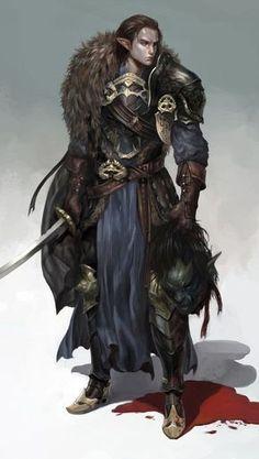 Elf fighter paladin warrior