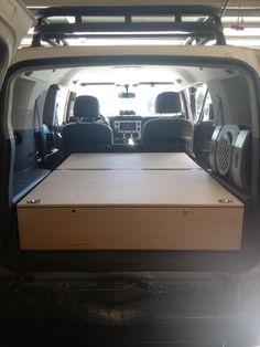 Rear storage box/sleeping platform without removal of seats - Toyota FJ Cruiser…