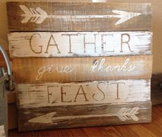 Hey, I found this really awesome Etsy listing at https://www.etsy.com/listing/211560628/reclaimed-pallet-wood-sign-gather-give