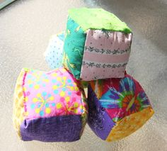 Set of 4 Baby Patchwork Soft Blocks by BabyLoveKreations on Etsy, $15.00