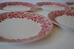 Corelle Gypsum Salad Dessert Plates  set of 6 by TsEclecticCorner, $24.00