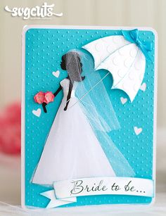 Something Blue Bridal Shower Card