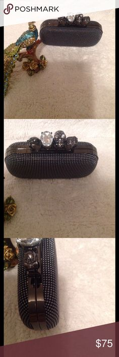 Skull knuckle box clutch evening bag My darling this is a must have for your closet!! Go into the night in style with this accessory on your arm or in your fingers Bags Clutches & Wristlets