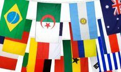 Flaggenfritze® Flaggenkette WM 2014 - alle 32 Nationen, Länge 9,90 m