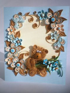 Quilling Card Anniversary quilling Card Love by QuillyVicky