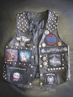 Studded Leather Jacket, Battle Jacket, Death Metal, Punk Rock, Vests, Studs, Patches, Dragon, Jackets