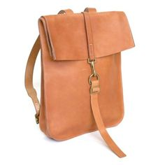 Leather Postal BackPack #1 Natural from KikaNY for $675 on Square Market