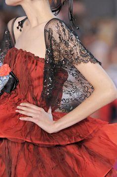 lacroix, ZsaZsa Bellagio  Love the black - red combination