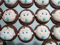 Cookie baby Boys for a baby shower.