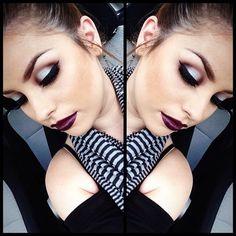 Dark side makeup