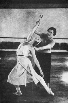 Agrippina Vaganova and Galina Ulanova at the Leningrad Choreographic Academy (now Vaganova Ballet Academy) in the 1930s.