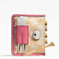 Coach- golf gear. Pretty and practical!  Another item for the Christmas wish list!