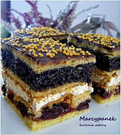 Polish Desserts, Polish Recipes, Cookie Desserts, No Bake Desserts, Delicious Desserts, Yummy Food, Tasty, Fruit Recipes, Sweet Recipes