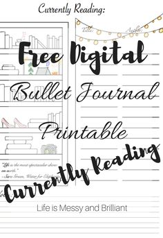FREE bullet journal printables and PDF templates to help you organize your planner. Each bullet journal printable is filled with colorful images and flowers to add a touch of feminity to your planner. Bullet Journal Bookshelf, How To Bullet Journal, Bullet Journal Printables, Bullet Journal Junkies, Bullet Journal Layout, My Journal, Bullet Journal Inspiration, Journal Pages, Journal Ideas