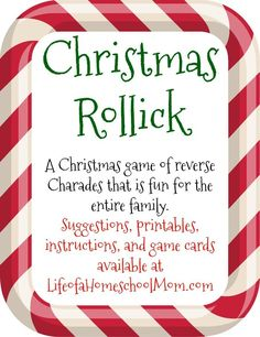 Here is a great pack that has lots of great ideas for Christmas Rollick!