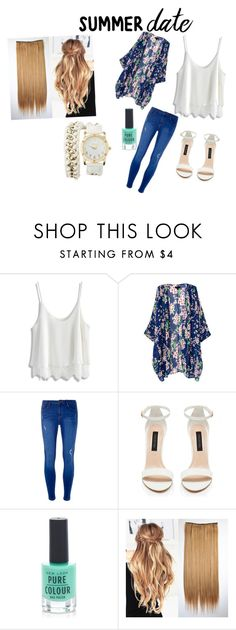 """""""Summer Date"""" by dessygirl0301 ❤ liked on Polyvore featuring Chicwish, Dorothy Perkins, New Look, Charlotte Russe, summerdate and rooftopbar"""