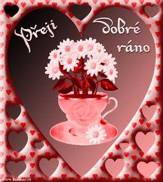 010 přání dobré ráno animace Good Morning, Birthday Cake, Night, Cards, Beautiful Roses, Nice, Buen Dia, Birthday Cakes, Bonjour