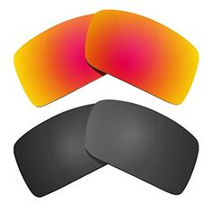 a4722658324 Littlebird4 2 Pairs Replacement Sunglasses Lenses Compatible with Oakley  Eyepatch 2 Polarized with UV Protection Black