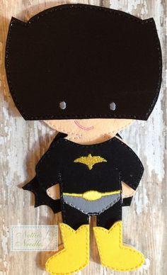I'm Batman Felt Doll Batman Outfit by NettiesNeedlesToo on Etsy, $9.00