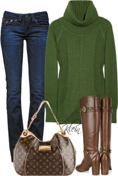 """""""Fall Outfit::Tory Burch Boots"""" by stacy-klein on Polyvore"""