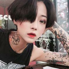asian, boyish, and girl image