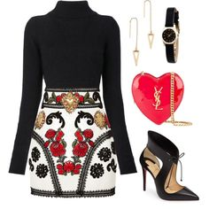Untitled #121 by tazkiasaras on Polyvore featuring polyvore, fashion, style, Balmain, Dolce&Gabbana, Christian Louboutin, Yves Saint Laurent, Marc by Marc Jacobs, Rebecca Minkoff and clothing