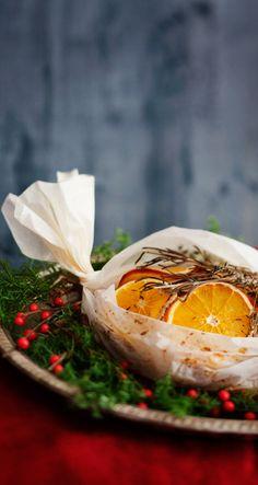 Turkey with Orange and braised rutabaga Saga, Camembert Cheese, Turkey, Dishes, Meat, Orange, Food, Peru, Beef