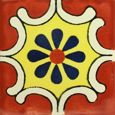 This beautiful patterned decorative Traditional Talavera Tile is a hand-made and hand-painted rustic tile carefully created by craftsman families in Mexico. Handmade Tiles, Handmade Pottery, Talavera Pottery, Ceramic Pottery, Ceramic Art, Mexican Ceramics, Traditional Tile, Clay Tiles, Art Tiles