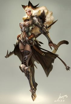Other Humanoids - Fantasy Art Character Design References, Game Character, Character Concept, Dnd Characters, Fantasy Characters, Female Characters, Neko, Fantasy Character Design, Character Design Inspiration