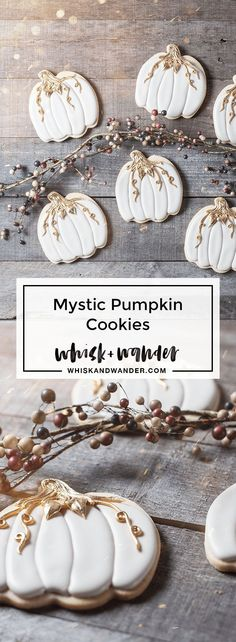 Don't be charmed by royal icing recipes that cause dimples and holes. Jes Best Royal Icing is tried and true! via /whiskwander/ Mystic pumpkin cookies f Pumpkin Sugar Cookies Decorated, Sugar Cookie Royal Icing, Halloween Sugar Cookies, Pumpkin Cookies, Turkey Cookies, Thanksgiving Cookies, Fall Cookies, Iced Cookies, Cut Out Cookies