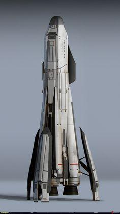 Spaceship Art, Spaceship Design, Concept Ships, Concept Cars, Arma Steampunk, Futuristic Robot, Sci Fi City, Airplane Fighter, Starship Concept