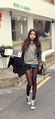Okay, yesstyle , redopin , daily look , short shirt and sweater