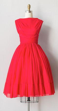 vermillion dress | vintage 1960s dress
