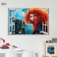 Kids bedroom 3d wall sticker vinyl decal window view Brave from stick2wall.com