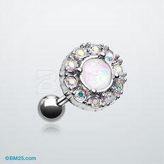 Opal Elegance Cartilage Tragus Earring