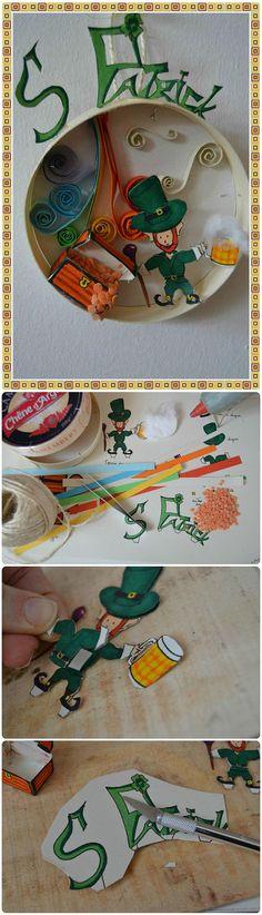 Marine Poppins | St Patrick dans une boîte de Camembert - tuto et gabarit (free printable)