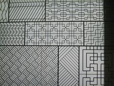 Patterns found in window, floors, doors, etc.
