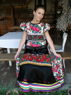 pretty Hungarian floral dress.