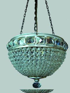 Aqua Art Deco Chandelier