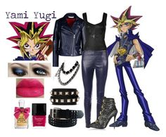 """""""   Yami Yugi ~ Yu Gi Oh   """" by miyu-san ❤ liked on Polyvore featuring Chanel, dVb Victoria Beckham, Yves Saint Laurent, McQ by Alexander McQueen, Valentino, Giuseppe Zanotti, Juicy Couture and Butter London"""